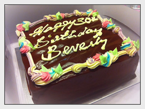 Awfully Chocolate Cake Design : BIRTHDAY CAKE AND A NEW FAMILY HERMES SCARF Beverly s ...