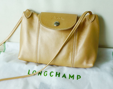 LONGCHAMP Le Pliage Cuir mini crossbody bag