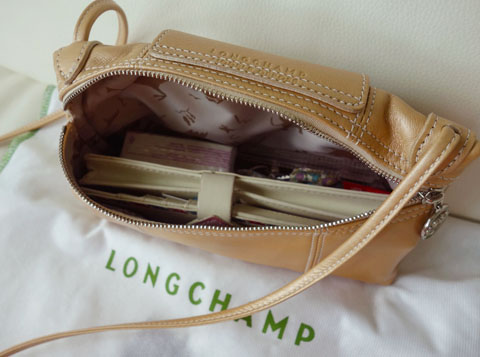 3011dd9fdcde LONGCHAMP Le Pliage Cuir mini crossbody bag