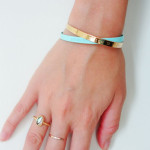 MYA BAY TURQUOISE METAL BANGLE