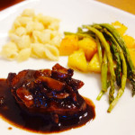 MY RECIPE BOX: Homecooked pork chops with red wine and garlic reduction