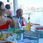 GREECE: Dining by the water at Ammos restaurant in Mikrolimano