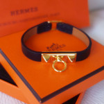 HERMES MICRO RIVALE LEATHER BRACELET