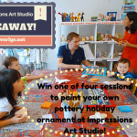 GIVEAWAY: Win one of four sessions to paint your own pottery holiday ornament at Impressions Art Studio!