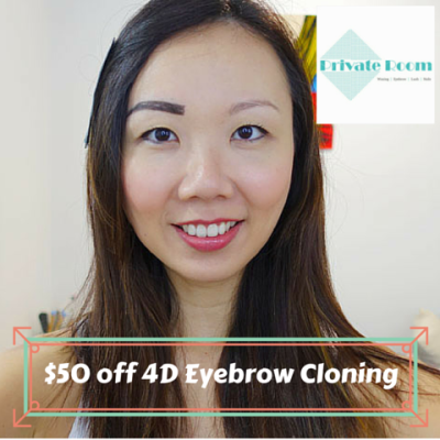 4D EYEBROW CLONING: a step by step pictorial at Private Room