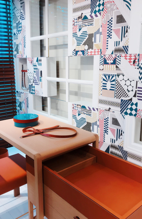 Hermès Through The Walls paper party origami for kids